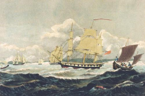 Fresh Breeze (Restrike Etching) by John Havell