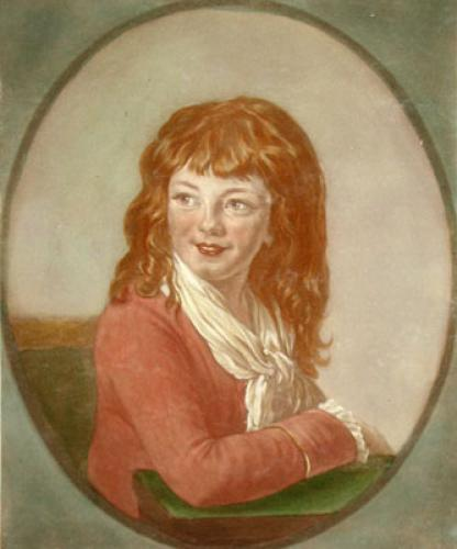 Miss Farren as a young girl (Restrike Etching) by Anonymous