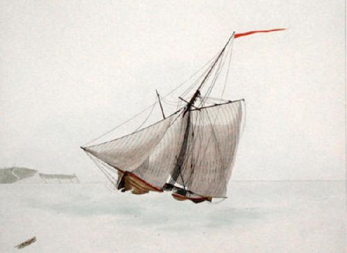 Cutter (Restrike Etching) by W.J. Huggins