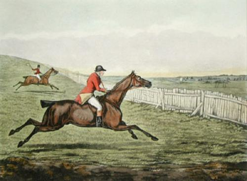 Hunting Recollections, Push (Restrike Etching) by Henry Alken