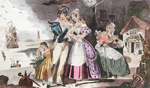 The Sailors Farewell (Restrike Etching) by J. Fairburn