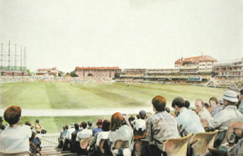 Final Test (Cricket) (Restrike Etching) by Frederick Miller