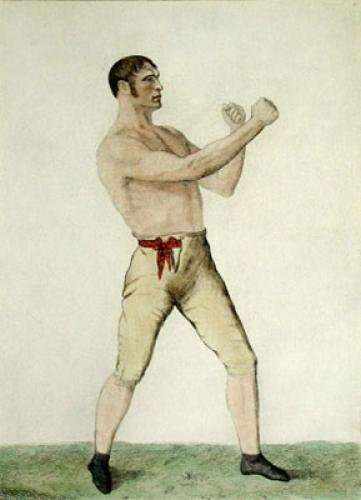 Thomas Spring, Champion of Eng. (Restrike Etching) by A. Easto