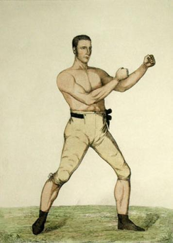 John Langan, Irish Champion (Restrike Etching) by A. Easto