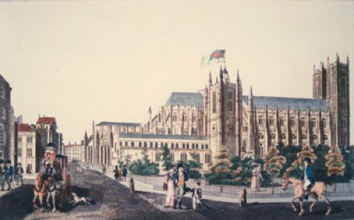 westminster Abbey, St Margarets (Restrike Etching) by Anonymous