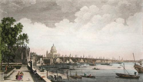 West View of London (Restrike Etching) by Anonymous
