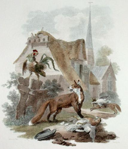 Fox (Restrike Etching) by Julias Caesar Ibbetson