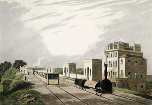 View of Manchester & Liverpool (Restrike Etching) by C. Verte
