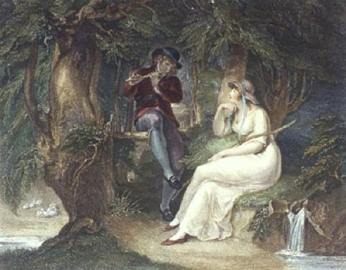 Spring - Bartolozzi (Restrike Etching) by William Hamilton