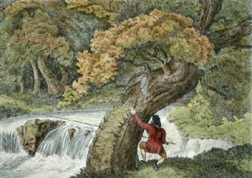 Worm Fishing (Restrike Etching) by Samuel Howitt
