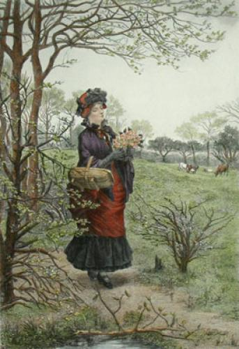 Spring - French Scenes (Restrike Etching) by Albert Ludovici