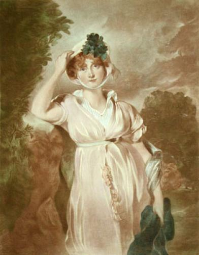 Lady with Bonnet (Restrike Etching) by Anonymous
