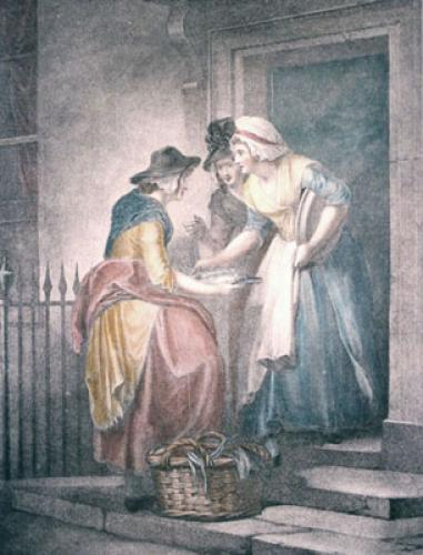 London Cries, Mackrel (Restrike Etching) by Francis Wheatley