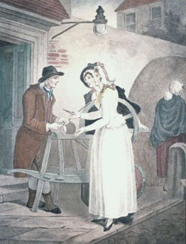 London Cries, Knives (Restrike Etching) by Francis Wheatley