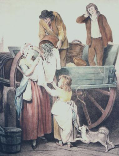 London Cries, Peas (Restrike Etching) by Francis Wheatley