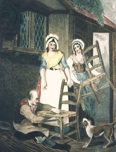 London Cries, Chairs (Restrike Etching) by Francis Wheatley