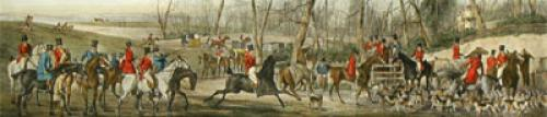 Meeting at Cover (Restrike Etching) by Henry Alken