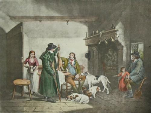 Inside A Country Alehouse (Restrike Etching) by George Morland