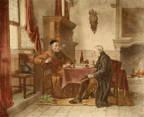 Chess Players (Restrike Etching) by Anonymous