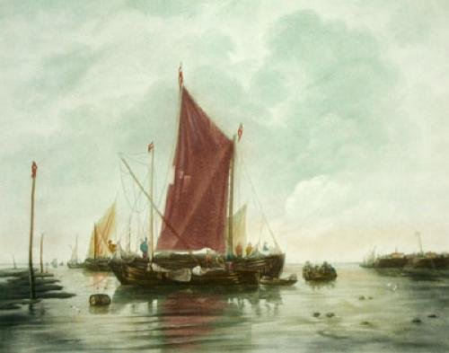 Fishing Boats Pl. I (Restrike Etching) by Anonymous