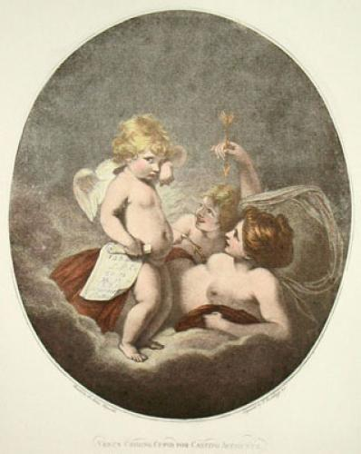 Venus Chiding Cupid (Restrike Etching) by Sir Joshua Reynolds