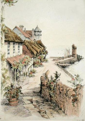 Lynmouth, Devon (Restrike Etching) by Anonymous