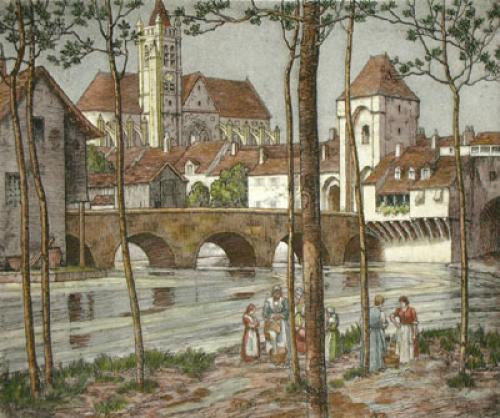 Challeroy, France (Restrike Etching) by Anonymous