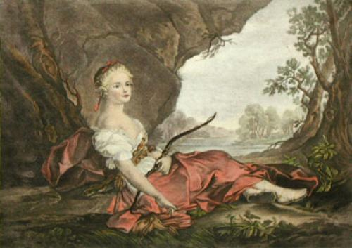 Diana the Huntress (Restrike Etching) by Anonymous