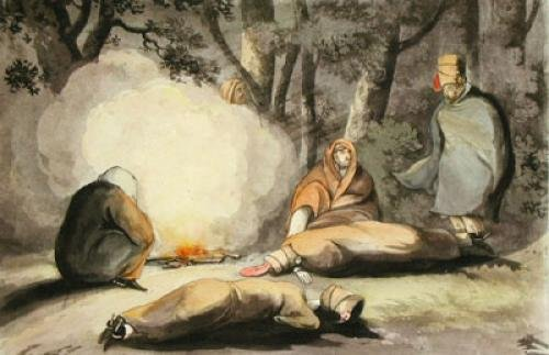 Army Discoveries - Bivouac (Restrike Etching) by Anonymous