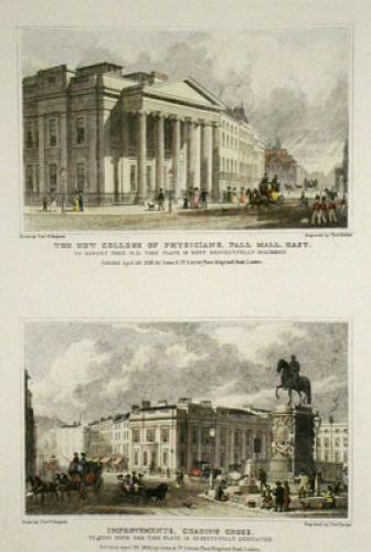 Pall Mall, Charing Cross (Restrike Etching) by Thomas H. Shepherd
