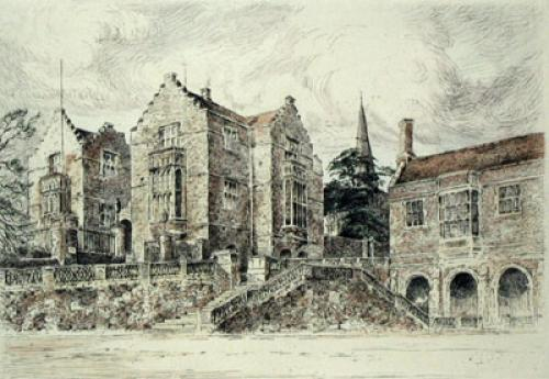 Harrow Pl. I (Restrike Etching) by Anonymous