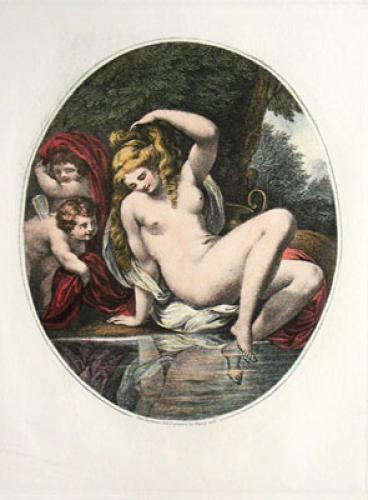 Psyche at the Bath Pl. I (Restrike Etching) by Anonymous
