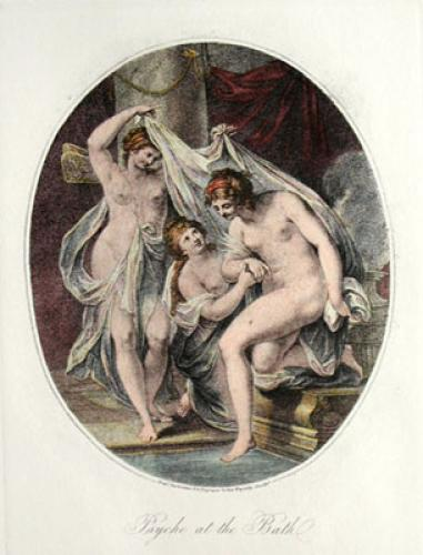 Psyche at the Bath Pl. II (Restrike Etching) by Anonymous