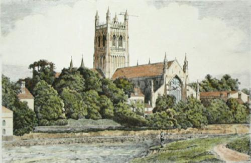 Worcester (Restrike Etching) by Anonymous