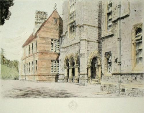 Kelly College, Tavistock (Restrike Etching) by Anonymous