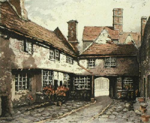 Canterbury, Burford Inn (Restrike Etching) by Anonymous