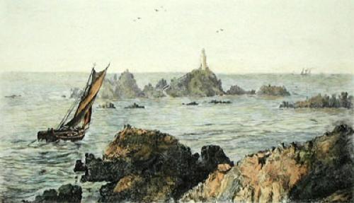 Jersey La Corbiere (Restrike Etching) by Anonymous
