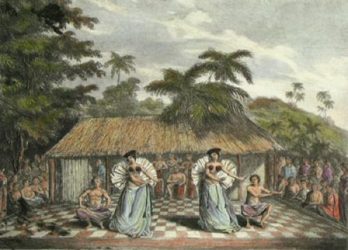 A Dance in Otaheite (Restrike Etching) by Anonymous