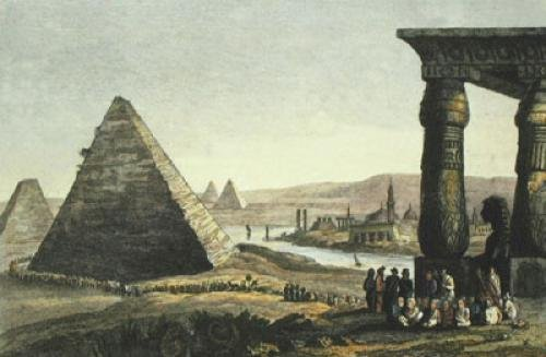 Pyramids of Egypt (Restrike Etching) by Anonymous