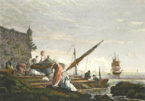 The View in Levant (Restrike Etching) by Anonymous