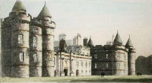 Edinburgh, Holyrood Place (Restrike Etching) by Anonymous
