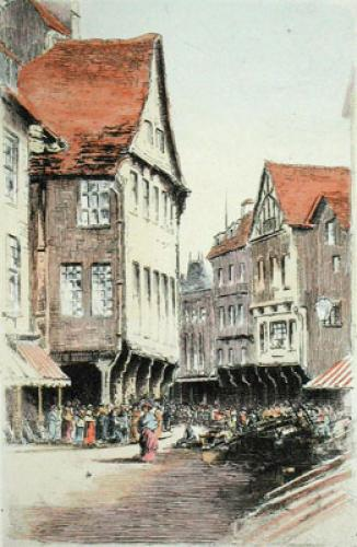 Dinan, North France (Restrike Etching) by Anonymous