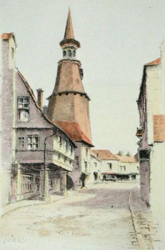 Dinan, Clock Tower (Restrike Etching) by Anonymous
