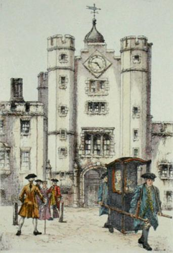 St James Palace (Restrike Etching) by Anonymous