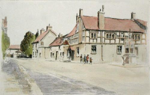 Caerleon, Ye Old Bull Inn (Restrike Etching) by Anonymous
