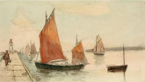 Sea Scapes Pl. I (Restrike Etching) by Anonymous