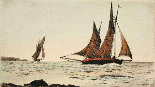 Sea Scapes Pl. II (Restrike Etching) by Anonymous
