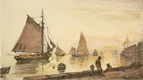 Sea Scapes Pl. III (Restrike Etching) by Anonymous