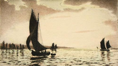Sea Scapes Pl. IV (Restrike Etching) by Anonymous