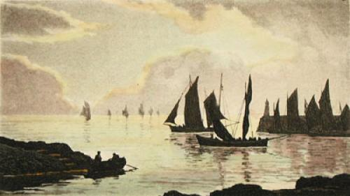 Sea Scapes Pl. VI (Restrike Etching) by Anonymous
